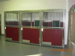 Our kennels are top of the line! They boast privacy panels and top panels for your dog's comfort and safety.